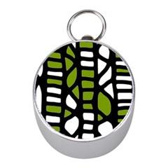 Green decor Mini Silver Compasses
