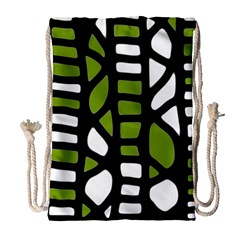 Green decor Drawstring Bag (Large)