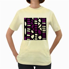 Purple decor Women s Yellow T-Shirt