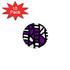 Purple decor 1  Mini Buttons (10 pack)