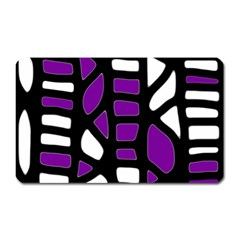 Purple decor Magnet (Rectangular)