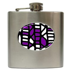 Purple decor Hip Flask (6 oz)