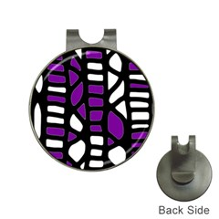 Purple decor Hat Clips with Golf Markers