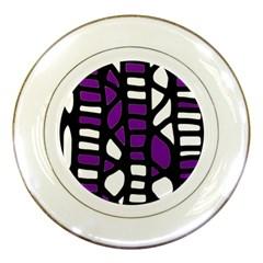 Purple decor Porcelain Plates