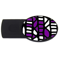 Purple decor USB Flash Drive Oval (4 GB)