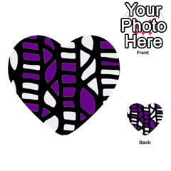 Purple decor Multi-purpose Cards (Heart)