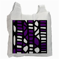 Purple decor Recycle Bag (One Side)