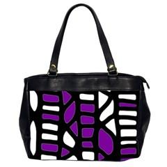 Purple decor Office Handbags (2 Sides)