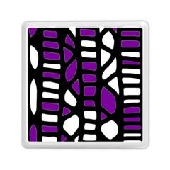 Purple decor Memory Card Reader (Square)