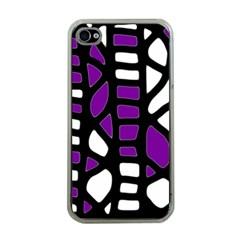 Purple decor Apple iPhone 4 Case (Clear)