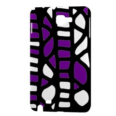 Purple decor Samsung Galaxy Note 1 Hardshell Case