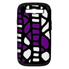 Purple decor Samsung Galaxy S III Hardshell Case (PC+Silicone)