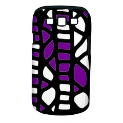 Purple decor Samsung Galaxy S III Classic Hardshell Case (PC+Silicone)
