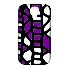Purple decor Samsung Galaxy S4 Classic Hardshell Case (PC+Silicone)