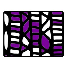 Purple decor Double Sided Fleece Blanket (Small)