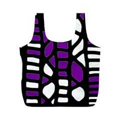 Purple decor Full Print Recycle Bags (M)