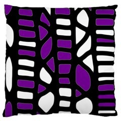 Purple decor Large Flano Cushion Case (One Side)