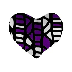 Purple decor Standard 16  Premium Flano Heart Shape Cushions