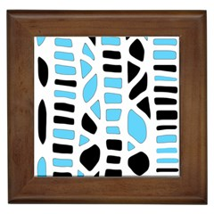 Light blue decor Framed Tiles