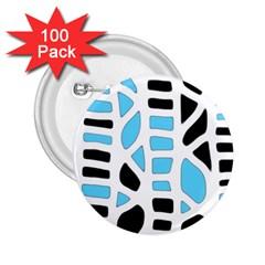 Light blue decor 2.25  Buttons (100 pack)