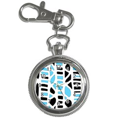 Light blue decor Key Chain Watches
