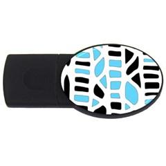 Light blue decor USB Flash Drive Oval (2 GB)