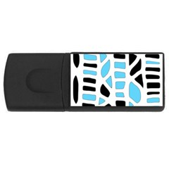 Light blue decor USB Flash Drive Rectangular (2 GB)