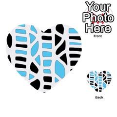 Light blue decor Multi-purpose Cards (Heart)