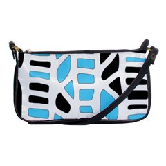 Light blue decor Shoulder Clutch Bags