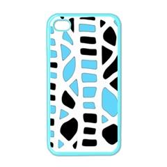 Light blue decor Apple iPhone 4 Case (Color)