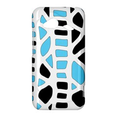 Light blue decor HTC Droid Incredible 4G LTE Hardshell Case