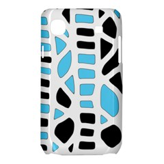 Light blue decor Samsung Galaxy SL i9003 Hardshell Case