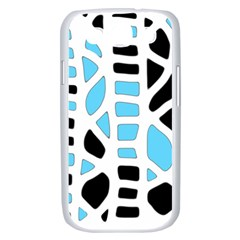 Light blue decor Samsung Galaxy S III Case (White)