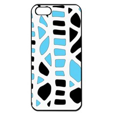 Light blue decor Apple iPhone 5 Seamless Case (Black)