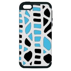 Light blue decor Apple iPhone 5 Hardshell Case (PC+Silicone)