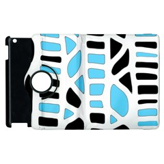 Light blue decor Apple iPad 2 Flip 360 Case