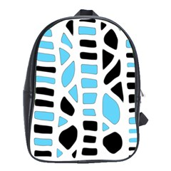 Light blue decor School Bags (XL)