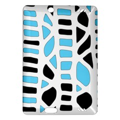Light blue decor Amazon Kindle Fire HD (2013) Hardshell Case