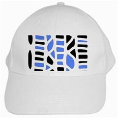 Blue decor White Cap