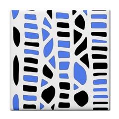 Blue Decor Tile Coasters