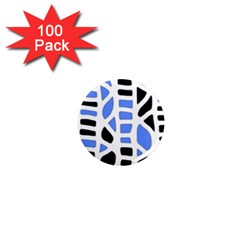 Blue decor 1  Mini Magnets (100 pack)