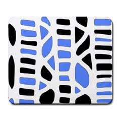 Blue decor Large Mousepads