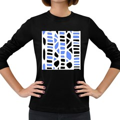 Blue decor Women s Long Sleeve Dark T-Shirts