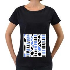 Blue decor Women s Loose-Fit T-Shirt (Black)