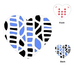 Blue decor Playing Cards (Heart)