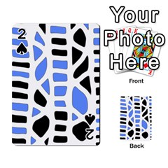 Blue decor Playing Cards 54 Designs