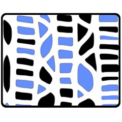 Blue decor Fleece Blanket (Medium)