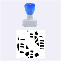 Blue decor Rubber Round Stamps (Medium)