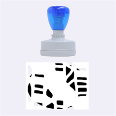 Blue decor Rubber Oval Stamps