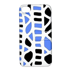 Blue decor Apple iPhone 4/4S Hardshell Case with Stand